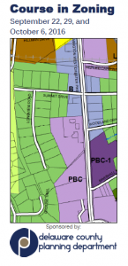Delaware County Course in Zoning. http://www.co.delaware.pa.us/planning/news/ZoningCourse.html